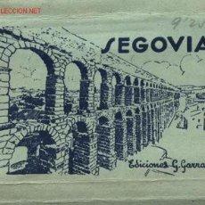 Postales: SEGOVIA. CUADERNILLO DESPLEGABLE CON 12 FOTOGRAFÍAS.. Lote 24627971
