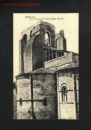 POSTAL DE SEGOVIA: SAN JUAN DE LOS CABALLEROS: ABSIDE (FOTOTIPIA HAUSER Y MENET) (Postales - España - Castilla y León Antigua (hasta 1939))