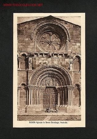 POSTAL DE SORIA: IGLESIA DE SANTO DOMINGO: PORTADA (ED.E.ALMIRALL NUM. 116) (Postales - España - Castilla y León Antigua (hasta 1939))