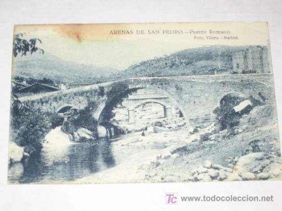 ARENAS DE SAN PEDRO, ÁVILA. PUENTE ROMANO. NUEVA, SIN CIRCULAR. FOTO YLLERA, PLATÓN PÉREZ (Postales - España - Castilla y León Antigua (hasta 1939))