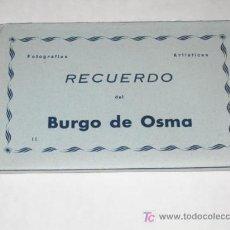 Postales: BURGO DE OSMA ( SORIA ). CARNET DESPLEGABLE CON 10 POSTALES. EDICIONES ARRIBAS. Lote 26097954