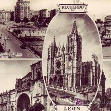 Postales: RECUERDO DE LEON. CIRCULADA EN 1953. Lote 23451003