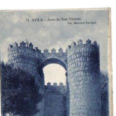 Postales: AVILA - ARCO DE SAN VICENTE. Lote 5860547