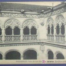 Postais: VALLADOLID. PATIO DE SAN GREGORIO, GALERIA. L. J. FOTOTIPIA DE HAUSER Y MENET. Lote 22438049