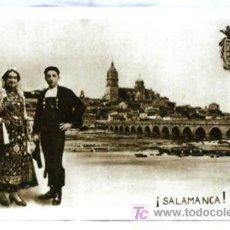 Postales: POSTAL SALAMANCA CON PAREJA TRAJE REGIONAL HUECOGRABADO MUMBRÚ SIN CIRCULAR. Lote 5152690