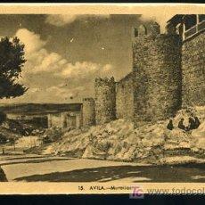 Postales: TARJETA POSTAL AVILA, MURALLAS Nº 15. HELIOTIPIA ARTISTICA ESPAÑOLA. Lote 5200149