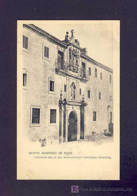 POSTAL DE SANTO DOMINGO DE SILOS (BURGOS): FACHADA OESTE (HAUSER Y MENET) (Postales - España - Castilla y León Antigua (hasta 1939))