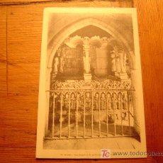 Postales: POSTAL DE BURGOS.68 REAL MONASTERIO DE LAS HUELGAS.SEPULCRO SIGLO XLL. Lote 6308404