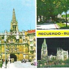 Postales: Nº 54 BURGOS *** PUERTO Y ARCO DE SANTA MARINA `196...SIN CIRCULAR. Lote 6870549