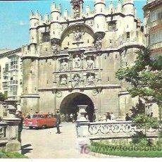 Postales: BURGOS PUERTA Y ARCO DE SANTA MARIA *** CIRCULADA EN 1964. Lote 6875686