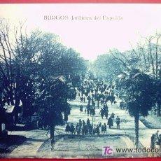 Postales: POSTAL DE BURGOS - JARDINES DEL ESPOLÓN. Lote 25878801