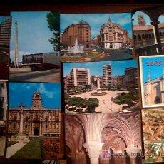 Postales: LOTE 10 POSTALES LEON NUEVAS DE ARRIBAS Y ALARDE 1970. Lote 27488374
