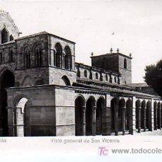 Postales: POSTAL DE AVILA - VISTA GENERAL E SAN VICENTE. Lote 7485451