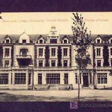 Postales: POSTAL DE MEDINA DEL CAMPO (VALLADOLID): BALNEARIO, GRAN HOTEL, ENTRADA PRINCIPAL (ED.SENDINO). Lote 7579420