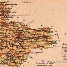 Postales: VALLADOLID , ALBERTO MARTIN, EDITOR BARCELONA, MAPA PROVINCIA. Lote 7745434