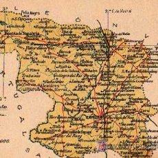 Postales: ZAMORA , ALBERTO MARTIN, EDITOR BARCELONA, MAPA PROVINCIA. Lote 7745557