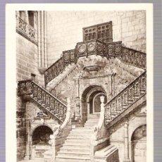 Postales: TARJETA POSTAL DE BURGOS. CATEDRAL. ESACALERA DE LA CORONERIA. HUECOGRABADO HAUSER Y MENET. MADRID.. Lote 7909534