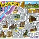 Postales: POSTAL SEGOVIA , ILUSTRADA , MAPA O PLANO , COMO UN GRUSS MODERNO, P16467. Lote 13974192