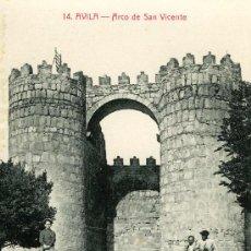 Postales: AVILA.- ARCO DE SAN VICENTE. Lote 10518021