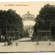 Postales: LA GRANJA - PUERTA DE SEGOVIA- 1017 FOTOTIPIA THOMAS-BARCELONA. Lote 8363818