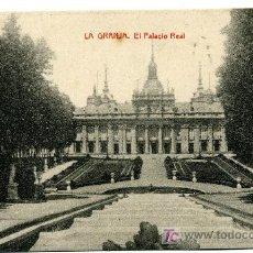 Postales: LA GRANJA - EL PALACIO REAL- 1013 FOTOTIPIA THOMAS-BARCELONA. Lote 8363826