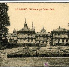 Postales: LA GRANJA - EL PARTERRE Y EL PALACIO REAL- 1014 FOTOTIPIA THOMAS-BARCELONA. Lote 8363830