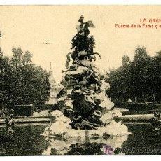 Postales: LA GRANJA - FUENTE DE LA FAMA Y EL PALACIO REAL- 1023 FOTOTIPIA THOMAS-BARCELONA. Lote 8363839