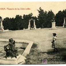 Postales: LA GRANJA - PLAZAUELA DE LA OCHO CALLES - 1023 FOTOTIPIA THOMAS-BARCELONA. Lote 8363843