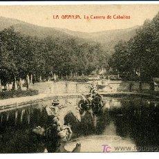 Postales: LA GRANJA - LA CARRERA DE CABALLOS- 1031 FOTOTIPIA THOMAS-BARCELONA. Lote 8363869