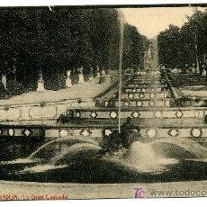Postales: LA GRANJA - LA GRAN CASCADA - 1021 FOTOTIPIA THOMAS-BARCELONA. Lote 8363873