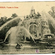 Postales: LA GRANJA - FUENTE DE DIANA - 1025 FOTOTIPIA THOMAS-BARCELONA. Lote 8363876