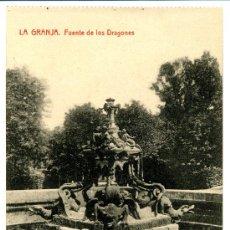 Postales: LA GRANJA - FUENTE DE LOS DRAGONES - 1033 FOTOTIPIA THOMAS-BARCELONA. Lote 8363888