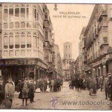 Postales: POSTAL VALLADOLID CALLE DE ALFONSO XII. Lote 8809313
