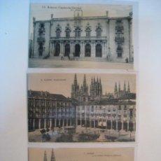 Postales - LOTE POSTALES BURGOS: PLAZA MAYOR, CAPITANIA, CATEDRAL - 9256988