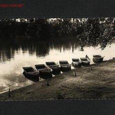 Postales: POSTAL DE VALLADOLID: RIBERA DEL RIO PISUERGA (GARCIA GARRABELLA, NUM.53) (BARCAS). Lote 1264353