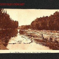 Postales: POSTAL DE BURGOS: EL ARLANZON CON EL PASEO DE LA ISLA, DESDE EL PUENTE DE CASTILLA (GRAF.VILLARROCA). Lote 1282101