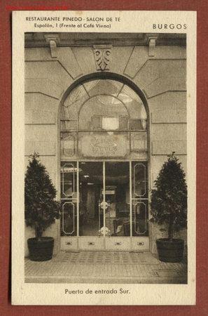 Burgos restaurante pinedo sal n de te puerta comprar postales antiguas de castilla y le n - Restaurante en pinedo ...