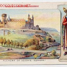 Postales: ALCAZAR DE SEGOVIA. PUBLICIDAD CHOCOLATERIA D'AIGUEBELLE. POSTAL FRANCESA CROMOLITOGRAFICA. Lote 18312530