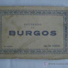 Postales: BURGOS.RECUERDO.20 POSTALES 09001. Lote 15957398