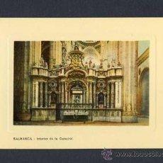 Postales: POSTAL DE SALAMANCA: INTERIOR DE LA CATEDRAL (ED.LIBR.CUESTA). Lote 10074642