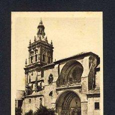 Postales: POSTAL DE BURGO DE OSMA (SORIA): ENTRADA A LA CATEDRAL (ED.ARRIBAS). Lote 10076429