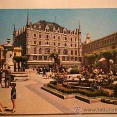 Postales: POSTAL ANTIGUA DE LEON. EDIFICIO DE LA CAJA DE AHORROS Y MONTE DE PIEDAD. Lote 10319155