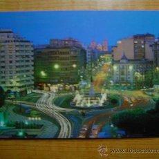 Cartoline: POSTAL LEON PLAZA GUZMAN EL BUENO Y CALLE DE ORDOÑO NOCTURNA SIN CIRCULAR. Lote 10346265