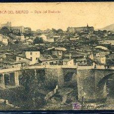 Postales: VILLAFRANCA DEL BIERZO (LEON) : ORTIZ - ASTORGA - VISTA DEL VIADUCTO. Lote 21986507