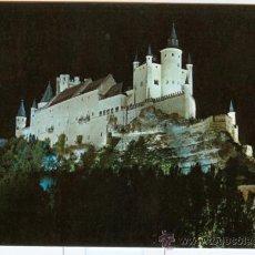 Postales: SEGOVIA - ' ALCAZAR ' VISTA NOCTURNA. Lote 18340497