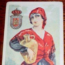 Postkarten - ANTIGUA CROMO DE CHOCOLATE AMATLLER - TRAJE REGIONAL SORIA - MIDE 11 X 7,5 CMS. - 11065742