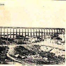 Postales: POSTAL DE SEGOVIA SERIE J 1ª Nº1 VISTA GENERAL DEL ACUEDUCTO ROMANO FOT. LAURENT. Lote 11199383