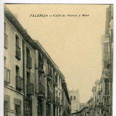 Postales: PALENCIA , CALLE DE BARRIO Y MIER , P28631. Lote 21281512