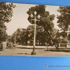 Postales: INTERESANTE POSTAL FOTO DE PALENCIA, PASEO DEL SALÓN. BLANCO Y NEGRO . Lote 19310716
