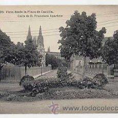 Postais: BURGOS. VISTA DESDE LA PLAZA DE CASTILLA. CALLE DE FRANCISCO APARICIO. FOTOTIPIA HAUSER Y MENET. Lote 12369197